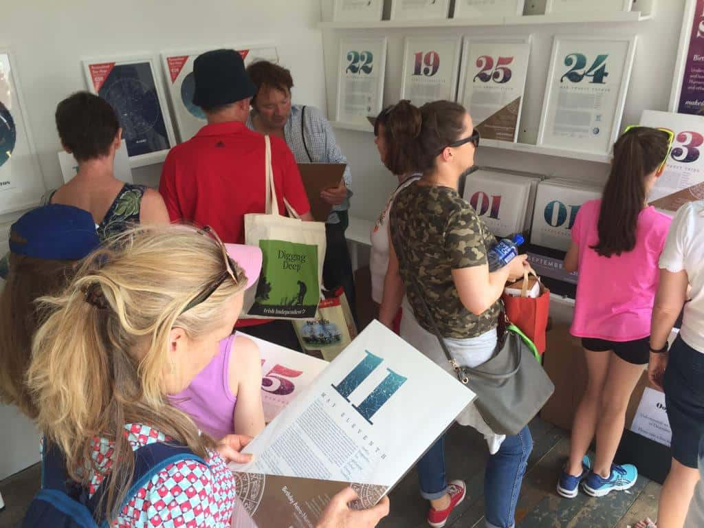 People looking at our products at Bloom 2018