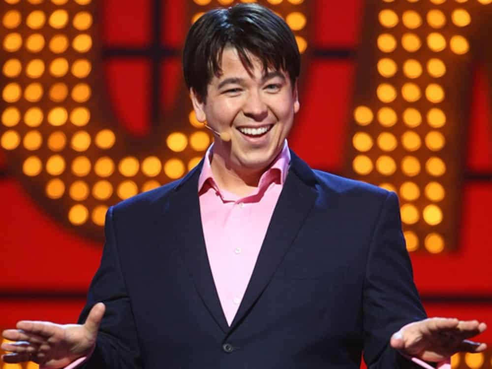 Michael McIntyre at a stand up show