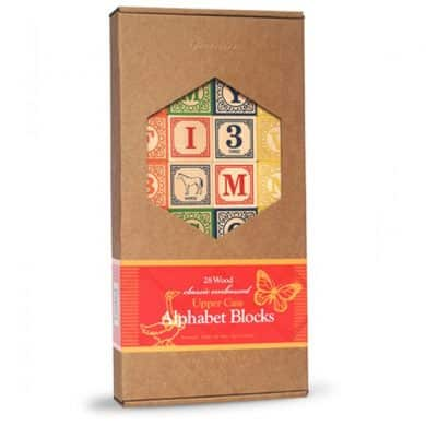 Wooden Baby Gift - Alphabet blocks