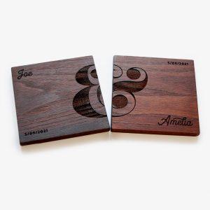 Personalised Walnut Coasters