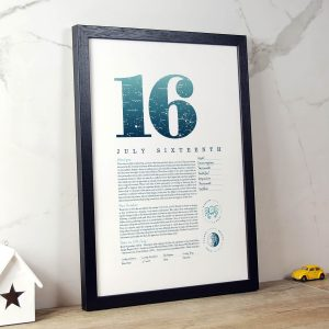 August 16th Birthday Print