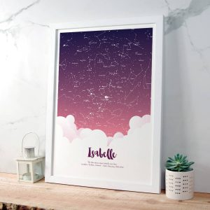 Personalised Night Sky gift for giel