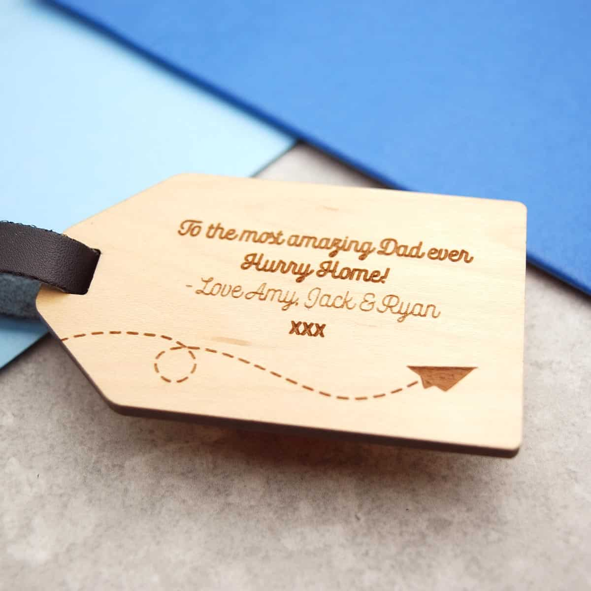 Best dad in the world luggage tag gift make it with words previous next magicingreecefo Choice Image