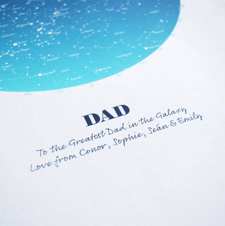 Personalised Gift for Dad Map of the Stars