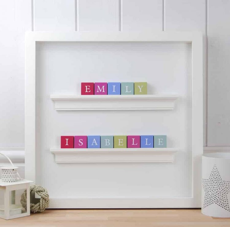 Baby gift for twin girls Personalised Bbay Gift ABC Frame in Classic letters
