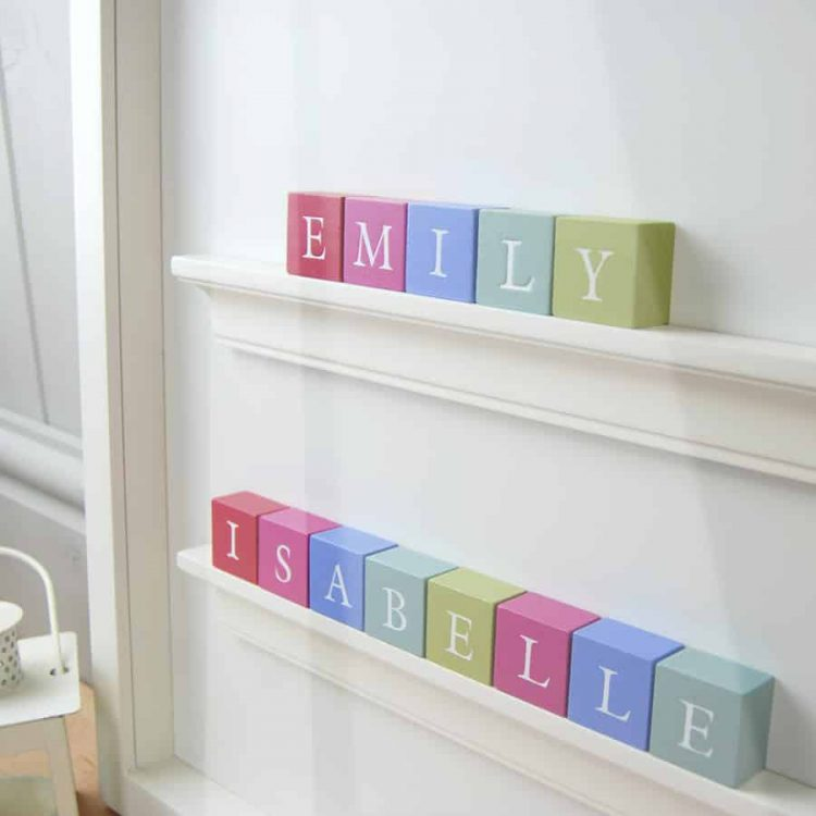 Baby gift for twin girls Personalised Baby Gift ABC Frame in Classic letters