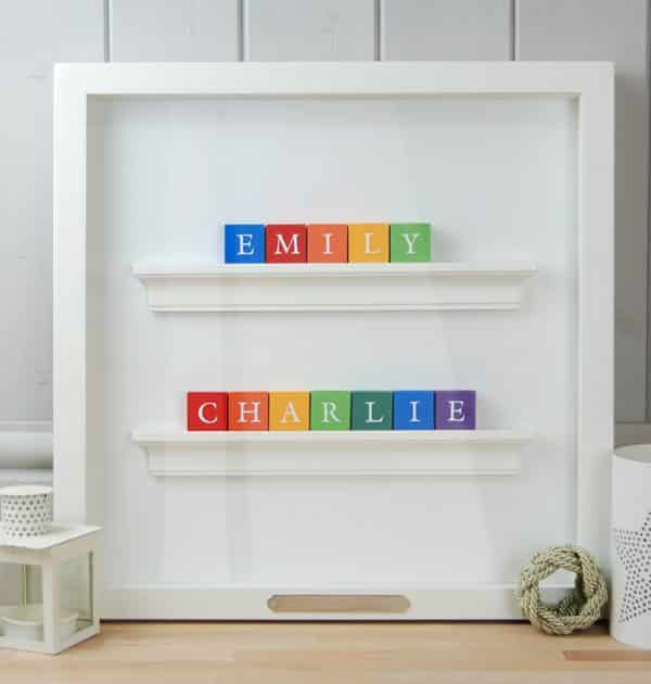 Christening Gift Baby Gift for Twin Boys Rainbow Classic