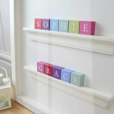 Christening Gift and Baby Gift Personalised ABC Frame for Twins Vintage Colours