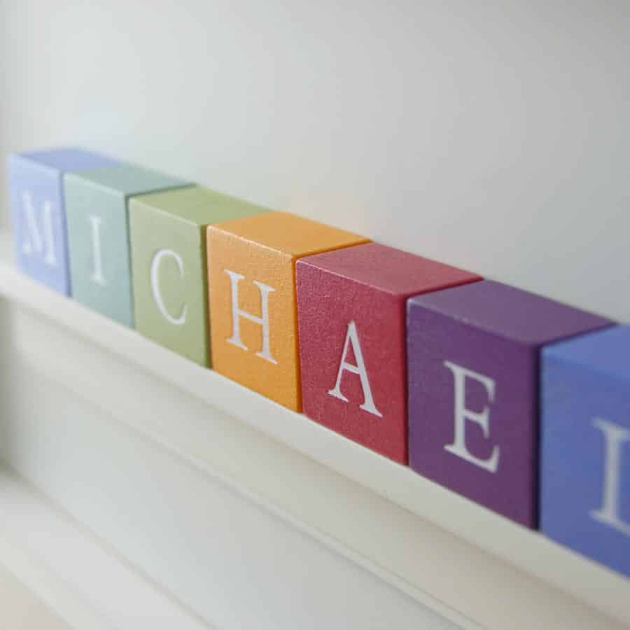 Christening Gift for Boy ABC Frame Close up
