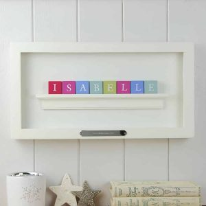 Christening Gift for Girl Pastel ABC Block Frame