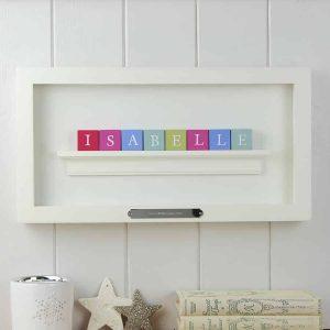 Christening Gift for Girl Pastel ABC Block Frame