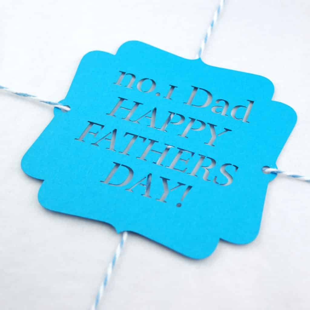 Laser Cut Gift tag for Dad