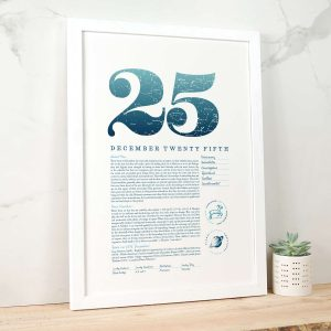 December 25th Birthday Print