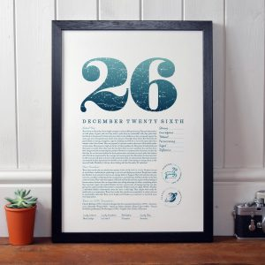 December 26th Birthday Print