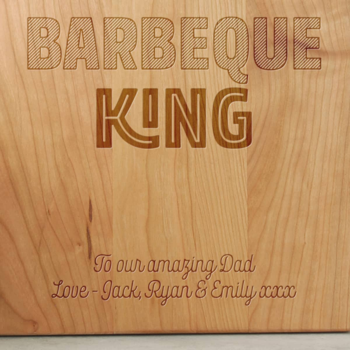 Fathers Day Gift BBQ Board Close Up