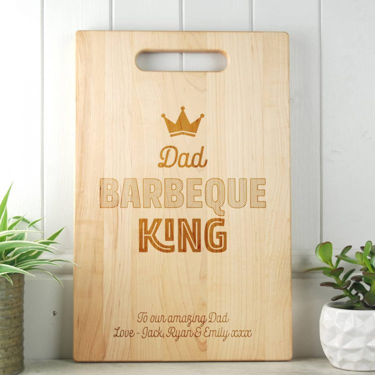 Fathers Day Gift BBQ King Maple Chopping Board