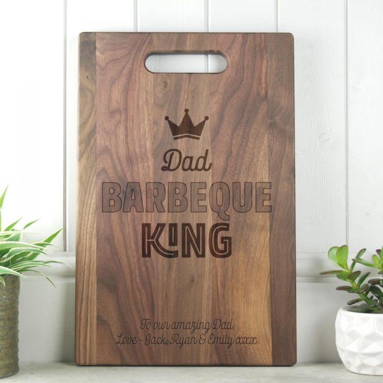 Fathers Day Gift BBQ King Walnut Chopping Board