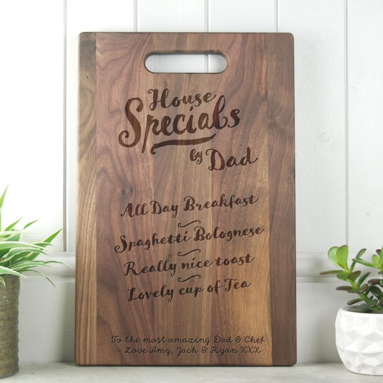 Fathers Day Gift House Specials Walnut Chopping Board