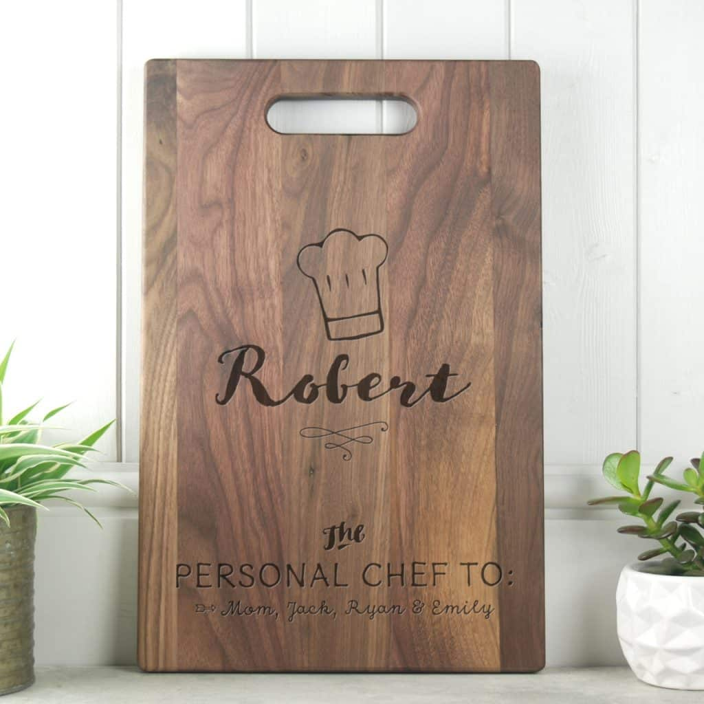 Dad Gift Walnut Cutting Board