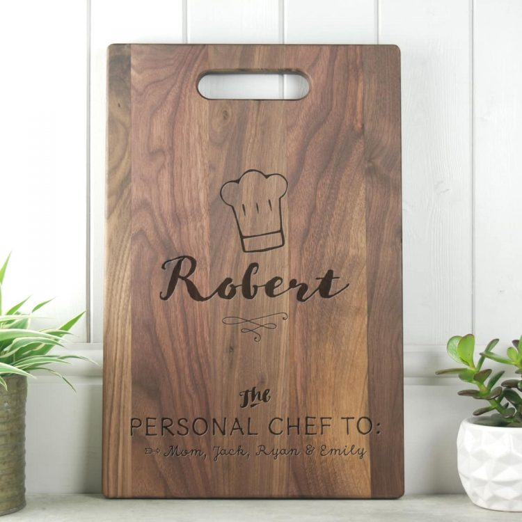 Dad Gift Walnut Cutting Board