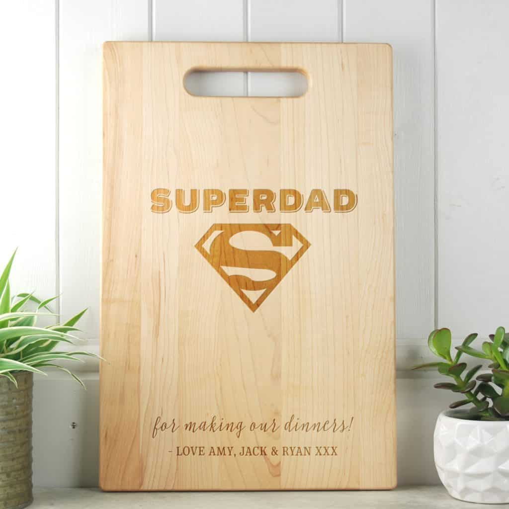 ifts for Dad SuperDad Maple Cutting Board