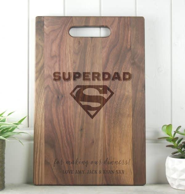 ifts for Dad SuperDad Walnut Cutting Board