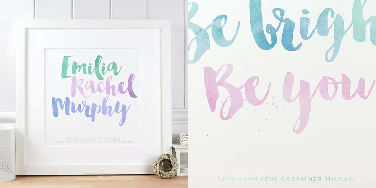 Christening Gift Name Print