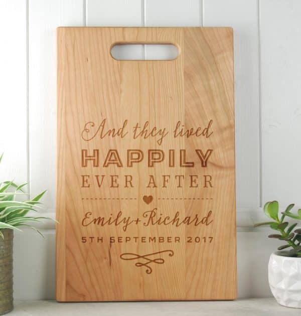 Happily-Wedding-Gift-Chopping-Board-Cherry