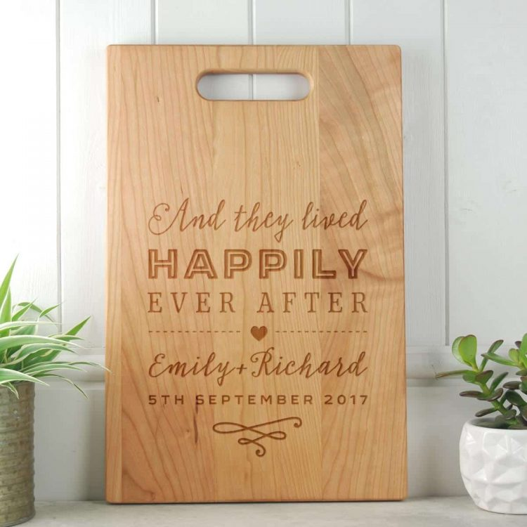 Happily Ever After Wedding Gift Cherry Chopping Board