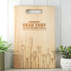 Personalised Gift for Dad or Mom Head Chef Cutting Board