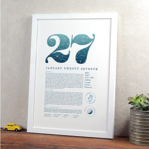 January 27th Birthday Print