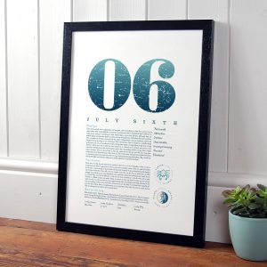 July 6th Birthday Print