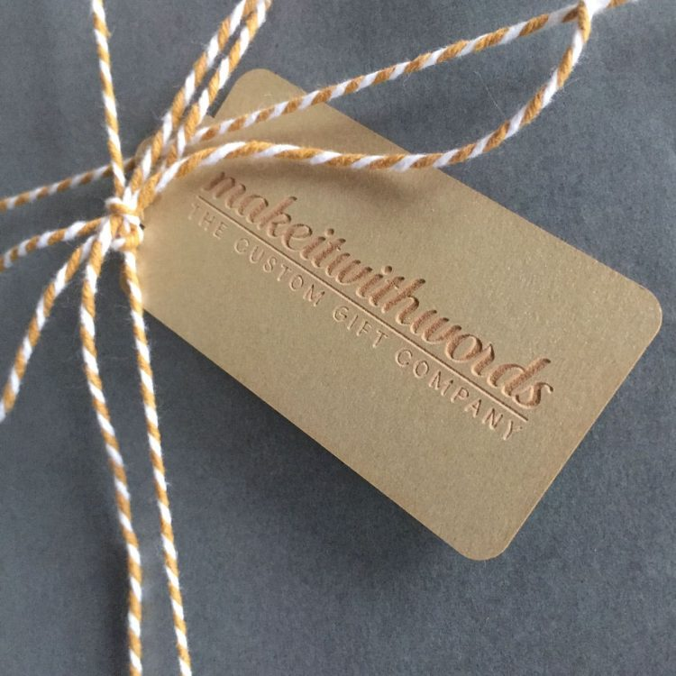 Gold Gift Tag