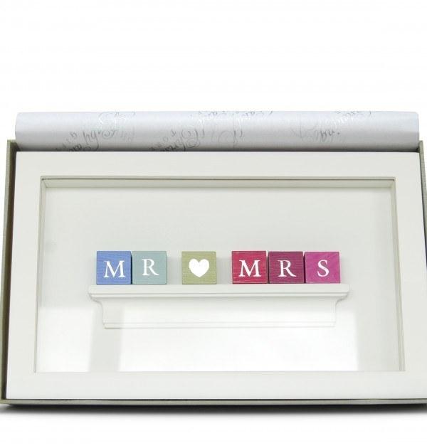 Personalised Wedding MR & MRS Pastel Frame Gift