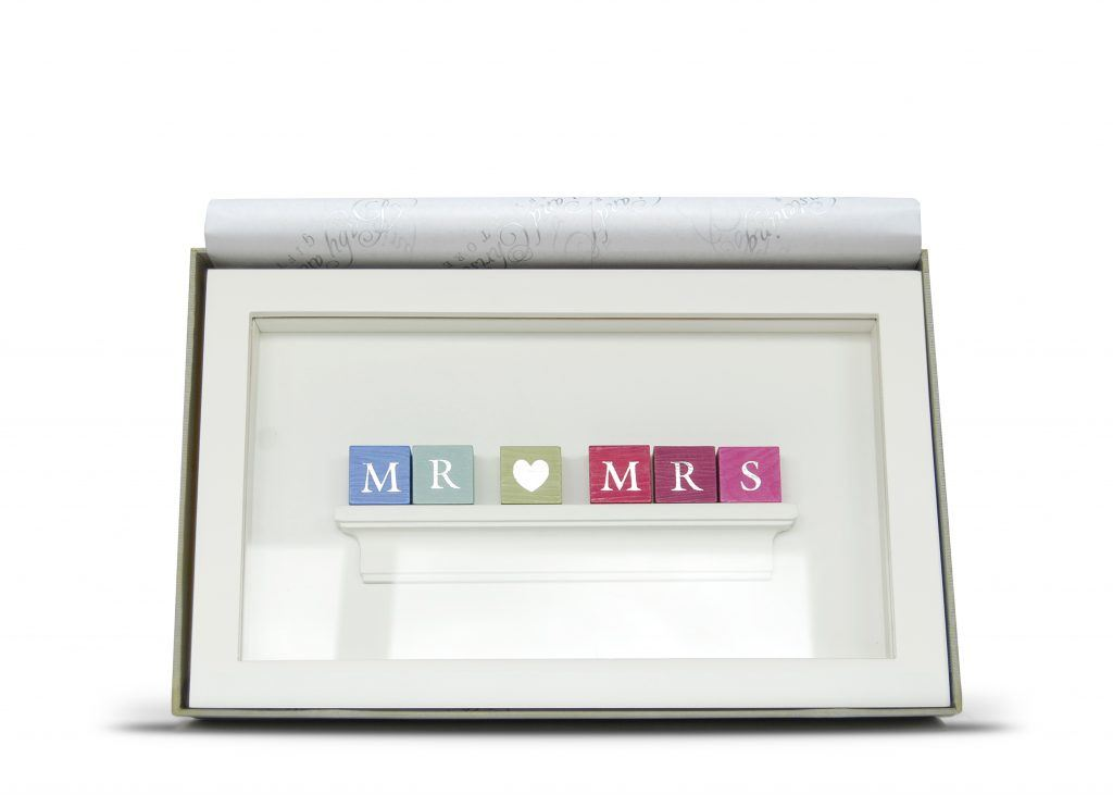Personalised Mr Mrs Wedding Pastel Block Frame