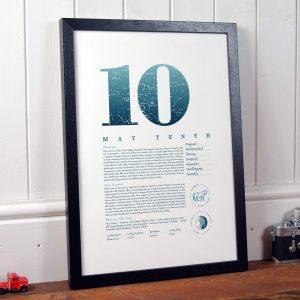 May 10th Birthday Print