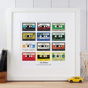 Mixtapes Poster print gift for Dad