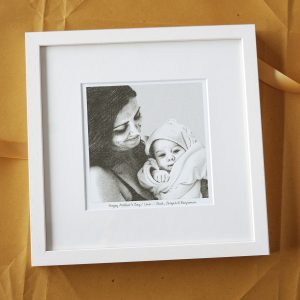 Mother and Baby Gift Portrait Print