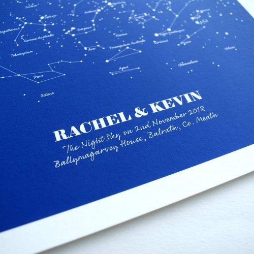 Personalised Wedding Gift Navy Star Map
