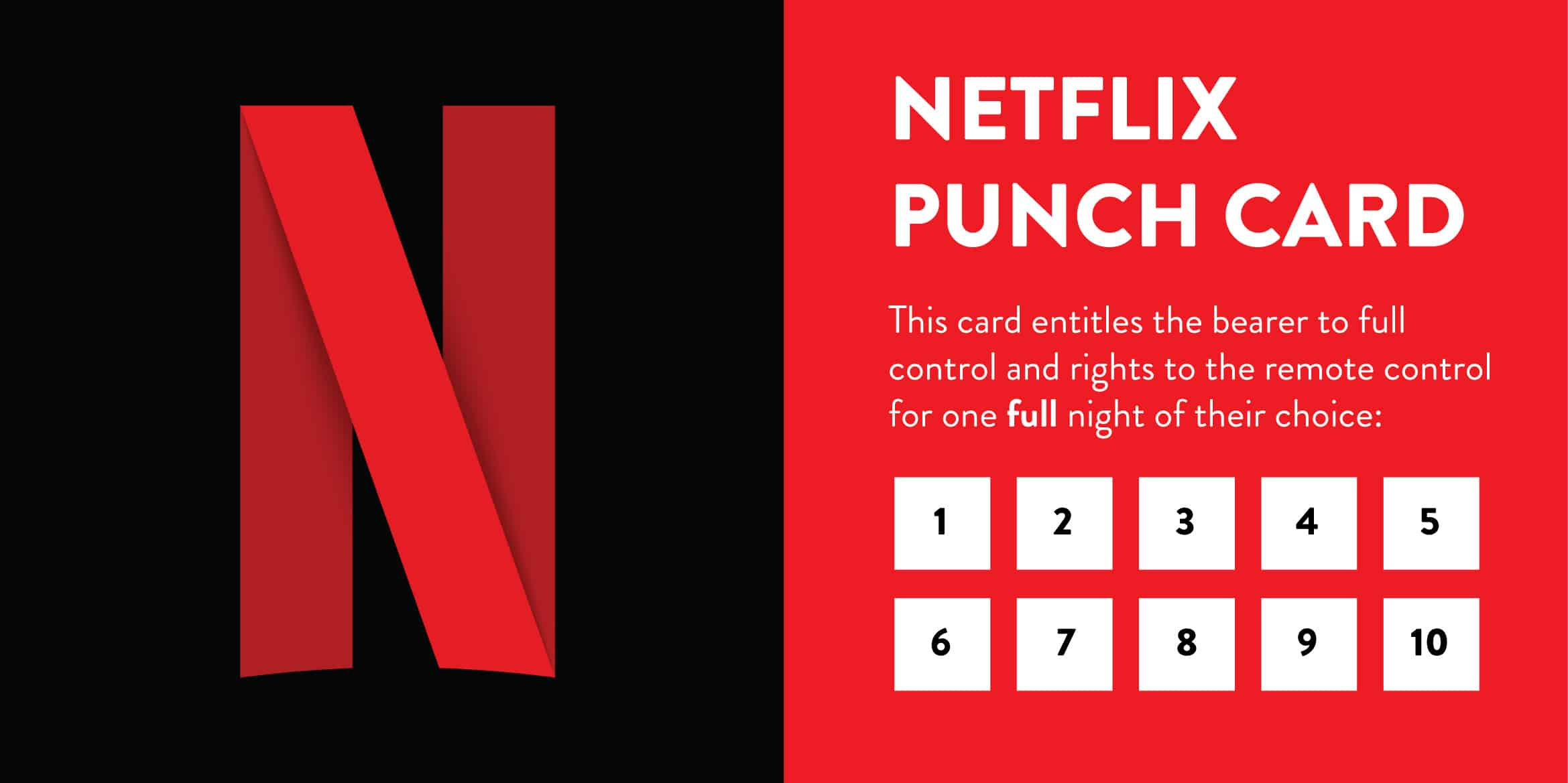 Netflix Punch Card