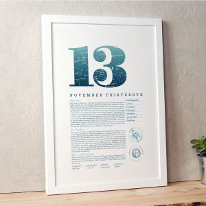 November 13th Birthday Print