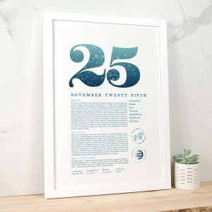 November 25th Birthday Print