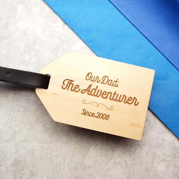 Adventurer Luggage Tag gift for Dad