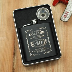 Personalised Hip Flask Birthday Gift