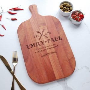 Personalised Cherry Wooden Wedding Gift
