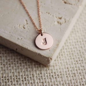Personalised-Jewellery-Rose-Gold-Initial-Necklace