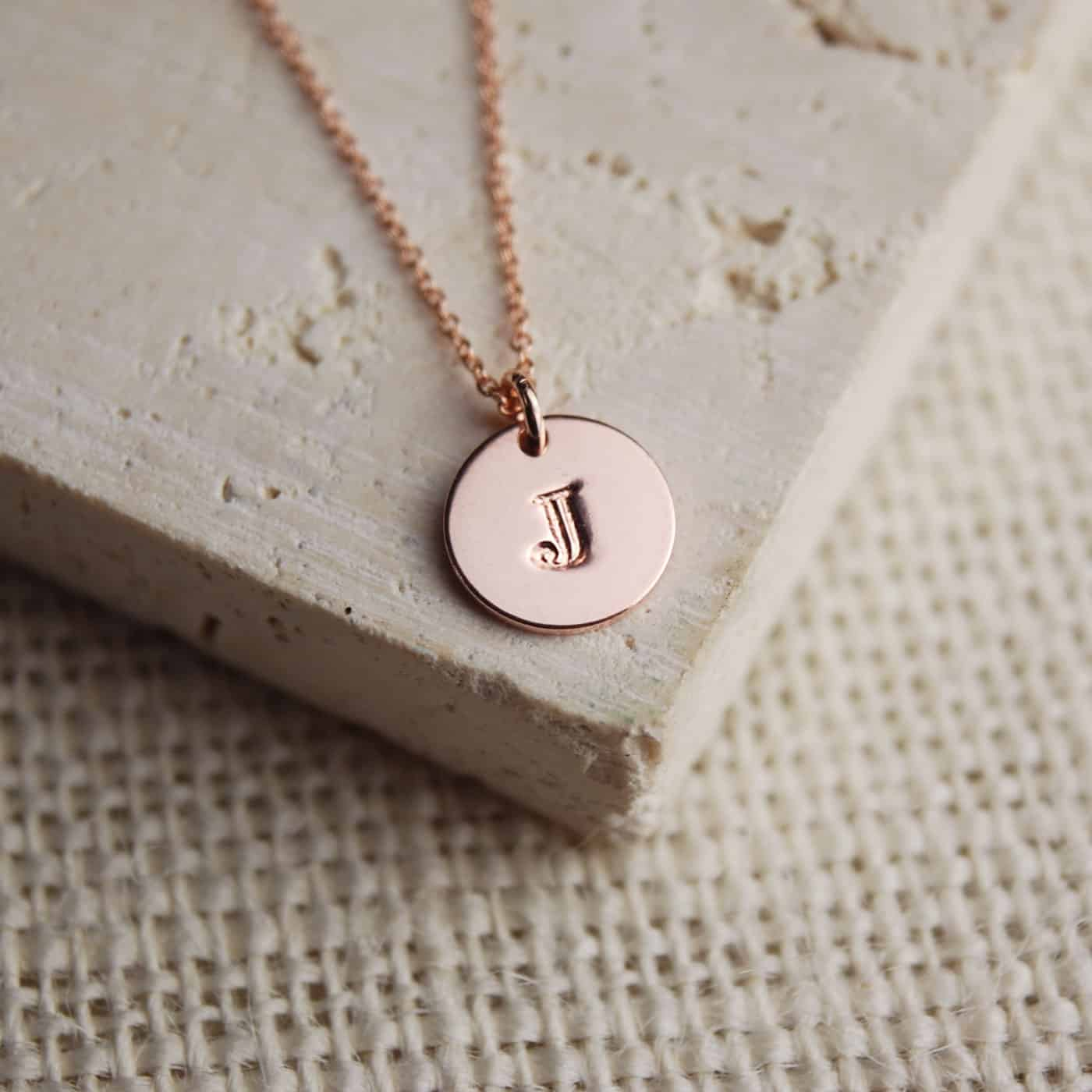 85275a36014f6 Personalised Rose Gold Letter Necklace - Make it with Words