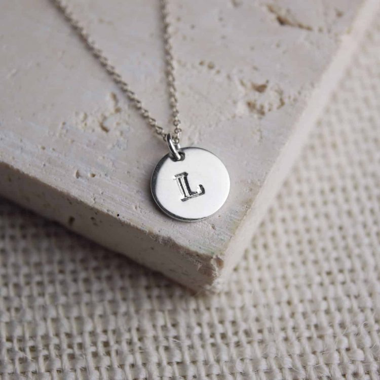 Personalised-Jewellery-Silver-Initial-Necklace