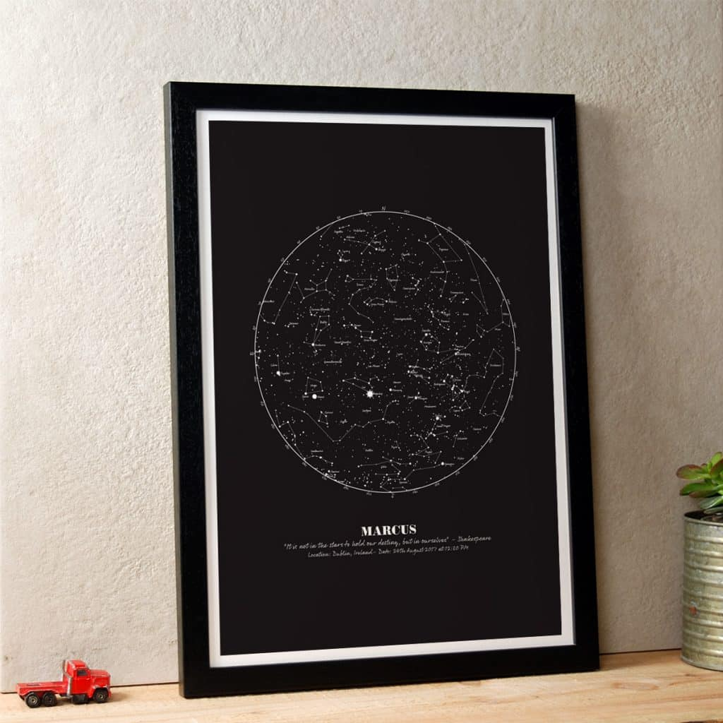star map of specific date What Is A Personalised Star Map Make It With Words