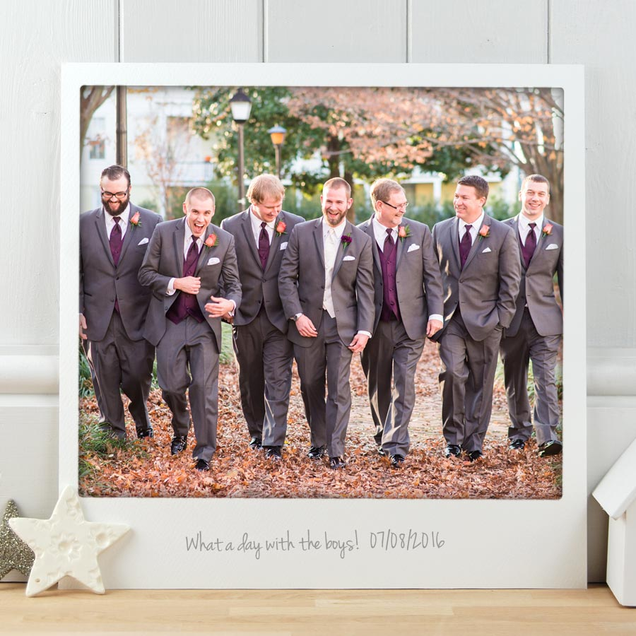 Wedding Gifts For Groomsmen Ireland : Groomsmen Vintage Polaroid PrintMake it with Words